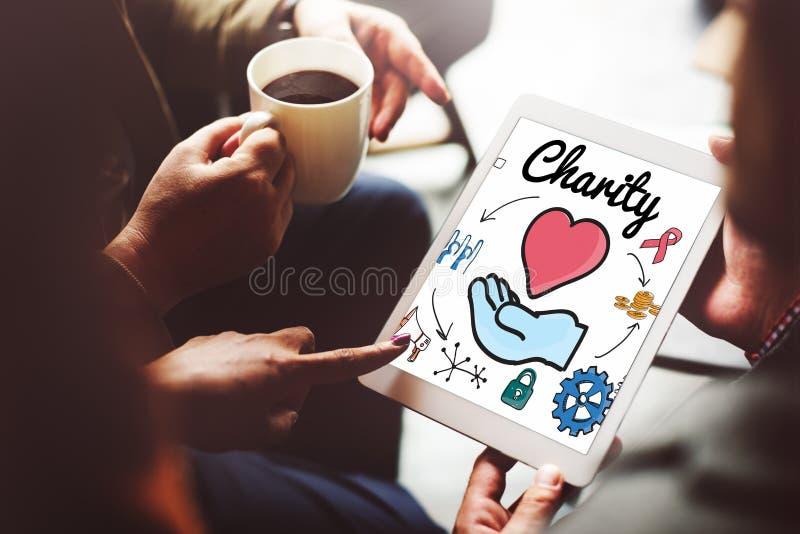 Dobroczynność Daruje opieki społecznej hojności Dobroczynnego Daje pojęcie zdjęcia stock