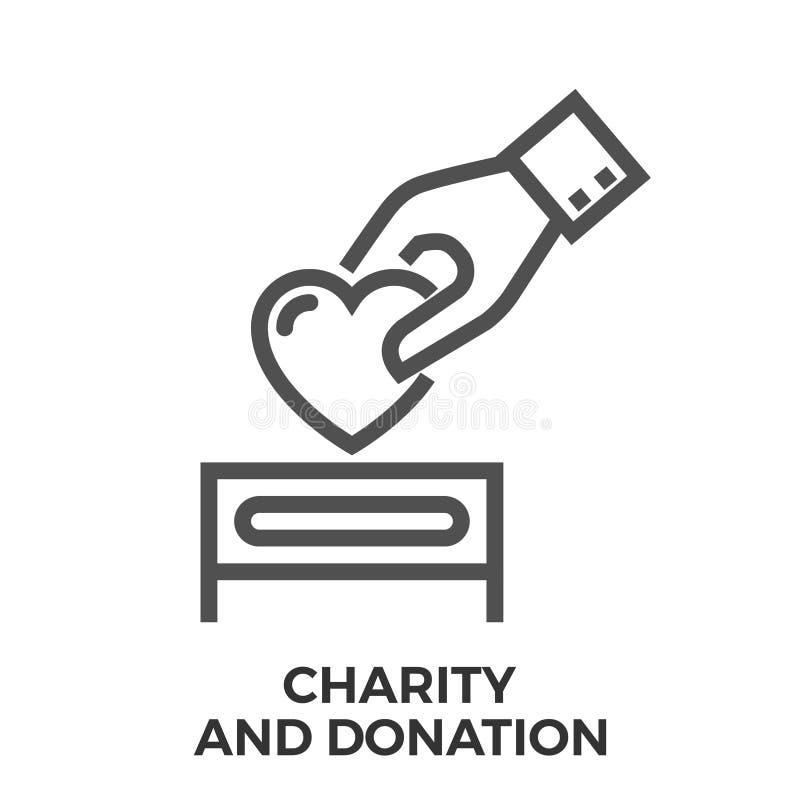 Dobroczynność i darowizna ilustracja wektor