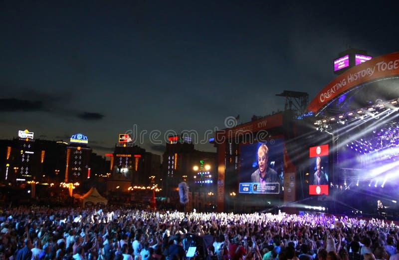 Dobroczynność pomocy koncert przy niezależność kwadratem w Kyiv obraz royalty free