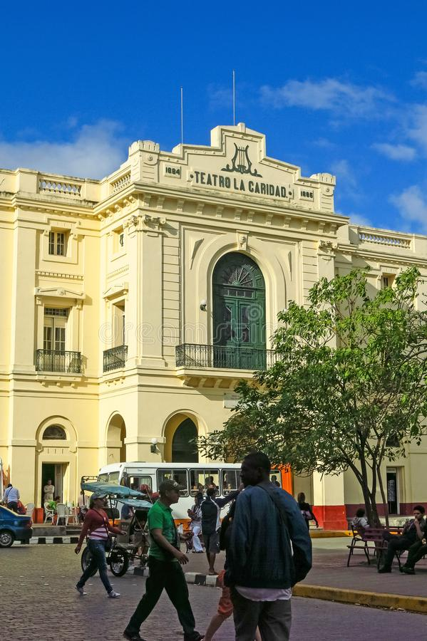 Dobroczynność teatr w Parque Vidal centrum miasto S obrazy royalty free