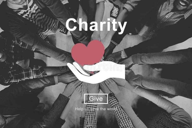 Dobroczynność wolontariusza pomocy pomoc Daruje pojęcie zdjęcia royalty free