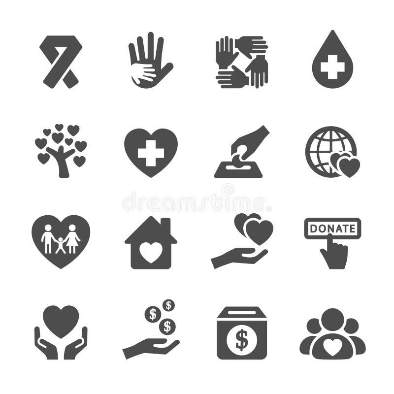 Dobroczynności i darowizny ikona ustawia 5, wektor eps10 ilustracja wektor