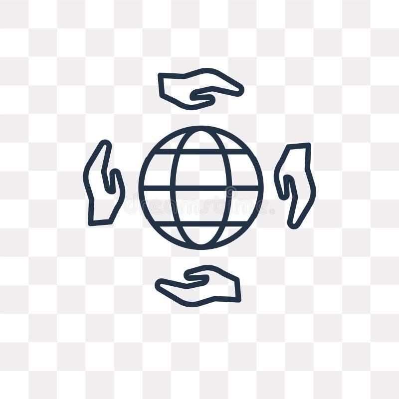Dobroczynności wektorowa ikona odizolowywająca na przejrzystym tle, liniowy C royalty ilustracja