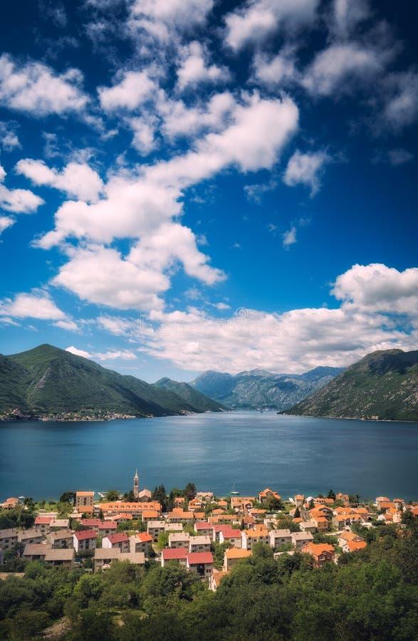Dobrota w Boka Kotor zatoce zdjęcie royalty free