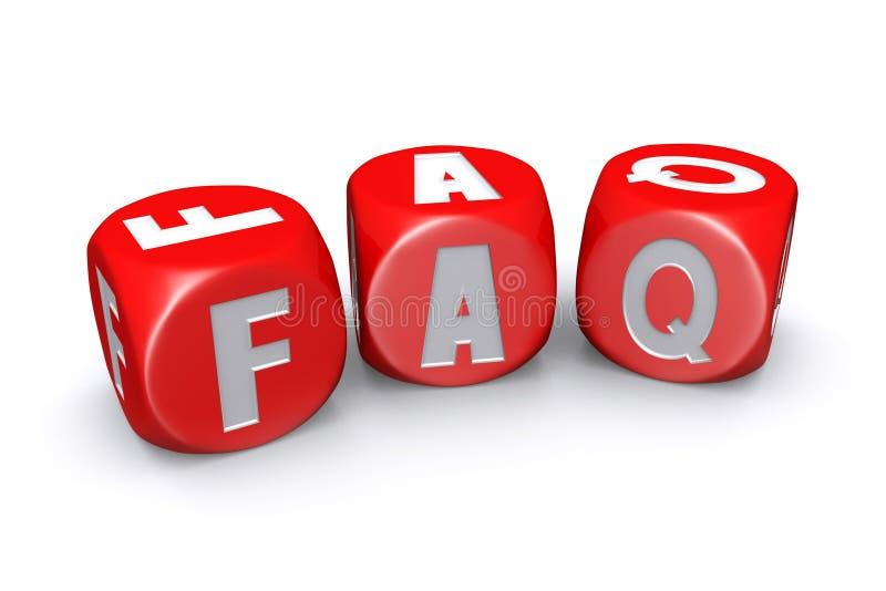 Dobrowolnie pytać pytania dices royalty ilustracja