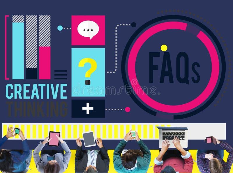 Dobrowolnie Pytać pytania FAQ problemów pojęcie ilustracja wektor