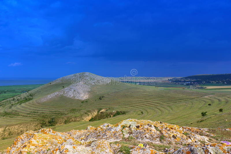 Dobruja landskap arkivbild
