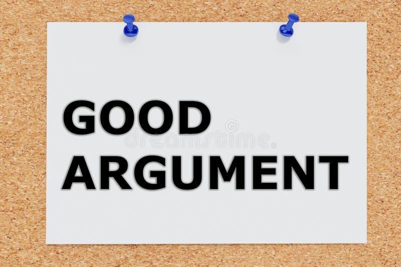 Dobry argumenta pojęcie ilustracji
