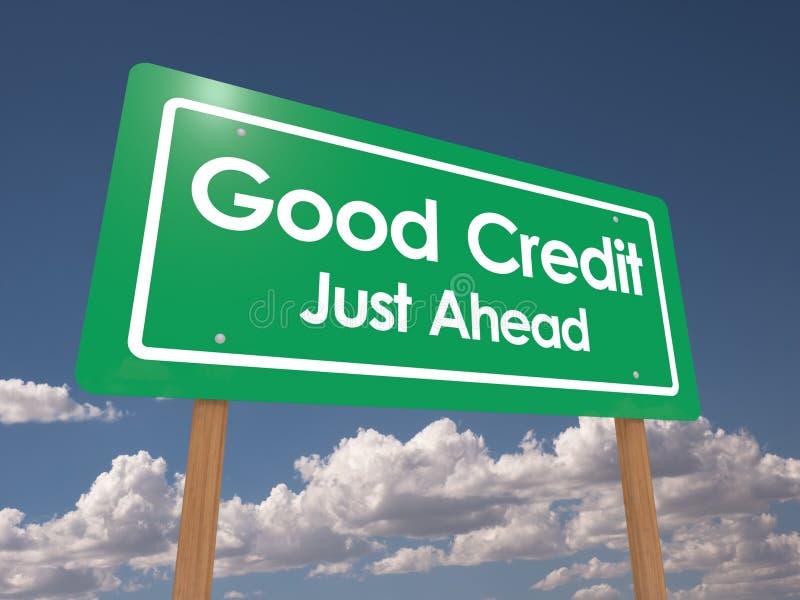 Dobry kredyt właśnie naprzód royalty ilustracja