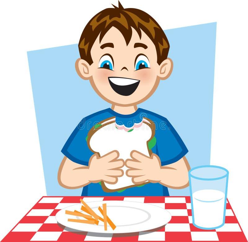 dobry lunch royalty ilustracja