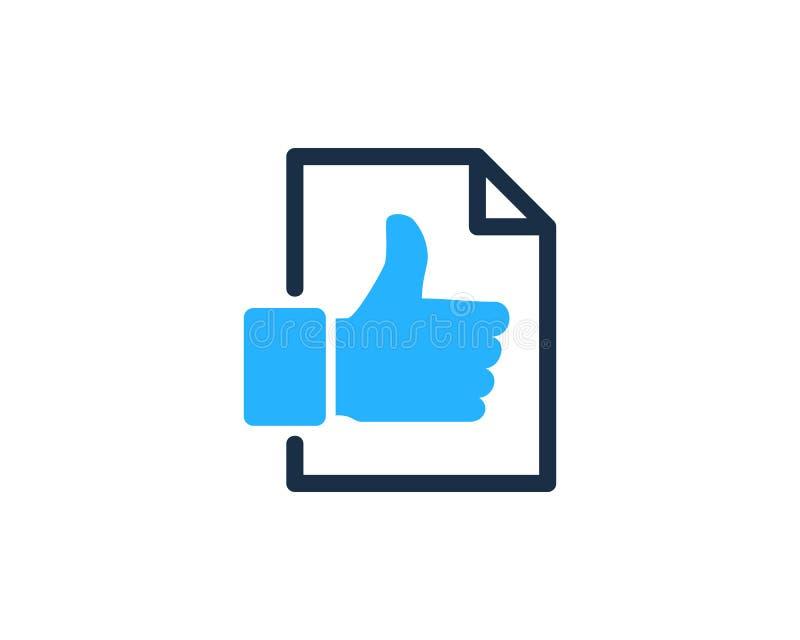 Dobry Najlepszy dokument ikony loga projekta element ilustracji
