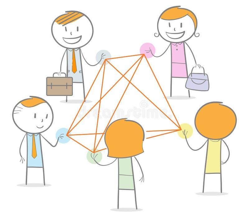 Dobry networking royalty ilustracja