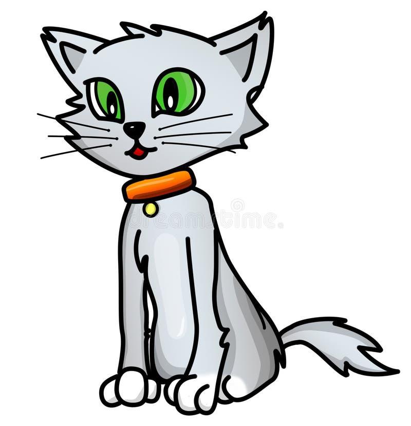 Dobry popielaty kreskówka kot royalty ilustracja