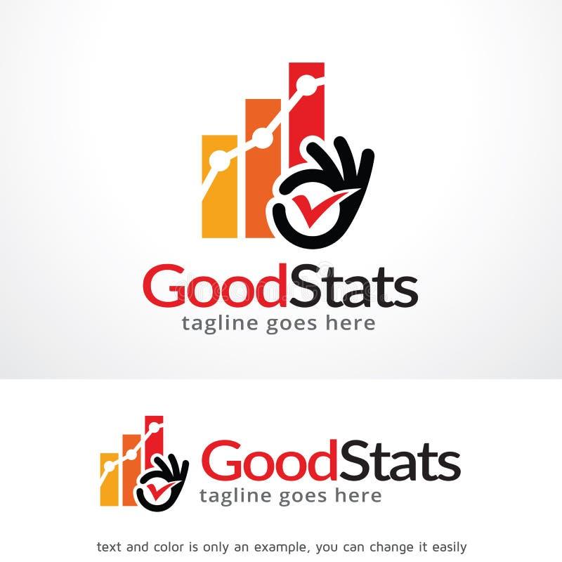 Dobry Stats loga szablonu projekta wektor royalty ilustracja