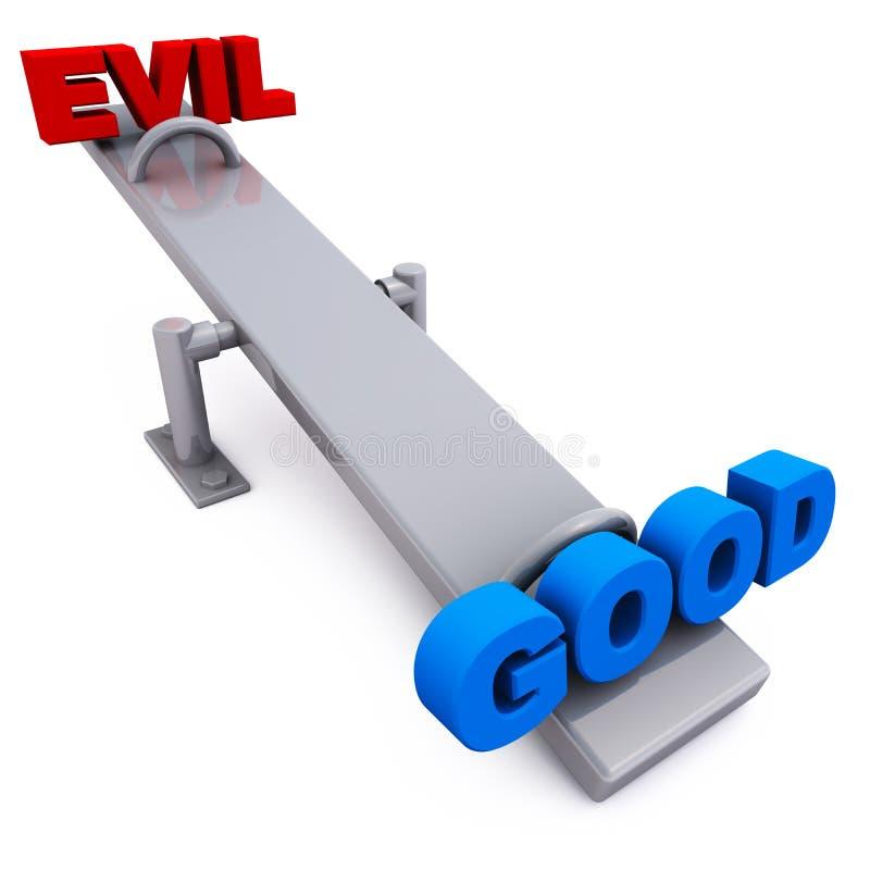 Dobry versus zło ilustracja wektor