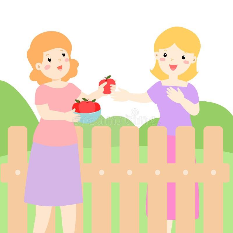 Dobry związek sąsiad ilustracja wektor