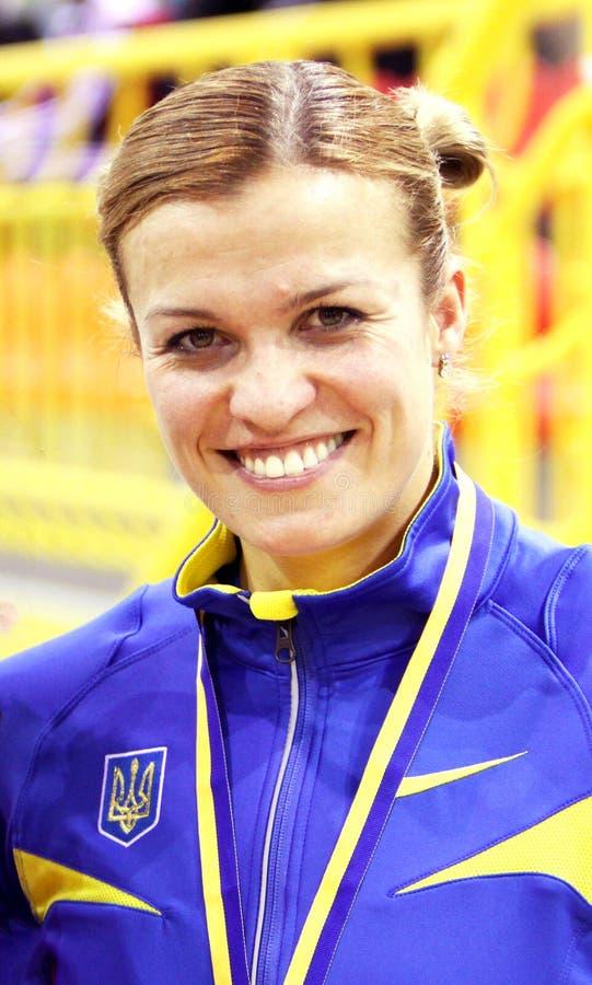Dobrynska Natallia - Olympische Kampioen in Peking stock afbeelding