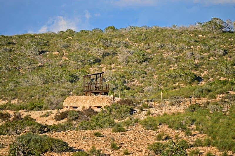 Dobrze Camouflaged Hiszpańskiej Cywilnej wojny bunkier obraz stock
