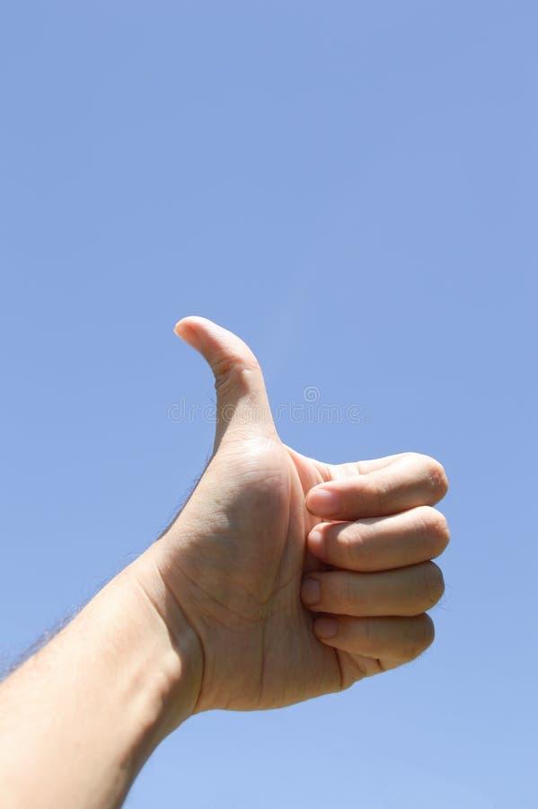 Dobrze ręka znak zdjęcie royalty free