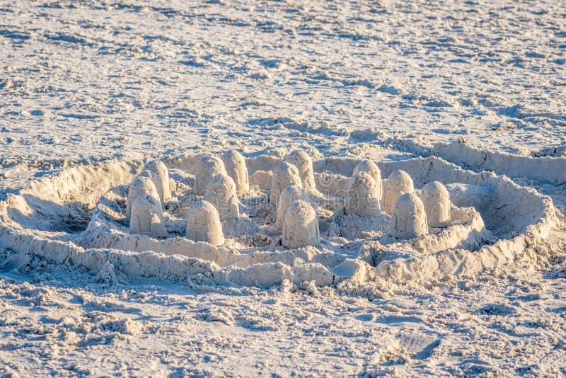Dobrze robić piaskowi roszować wzdłuż brzeg Anna Maria wyspa, Floryda fotografia stock