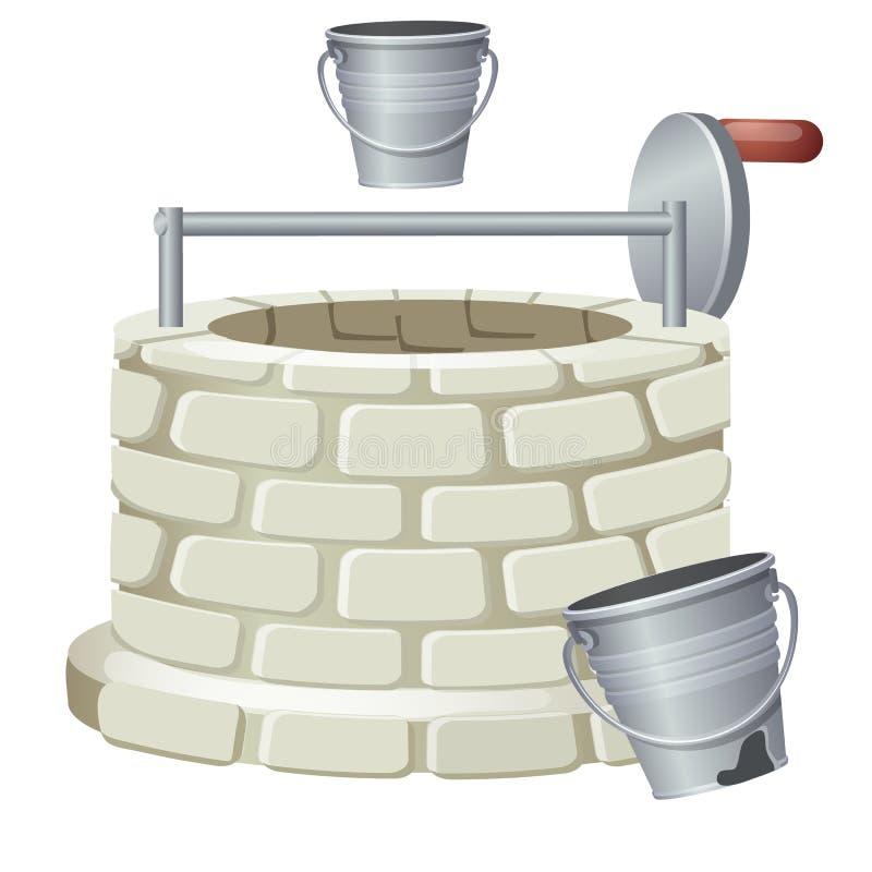 Dobrze robić cegły odizolowywać na białym tle Wektorowa kreskówki zakończenia ilustracja ilustracji
