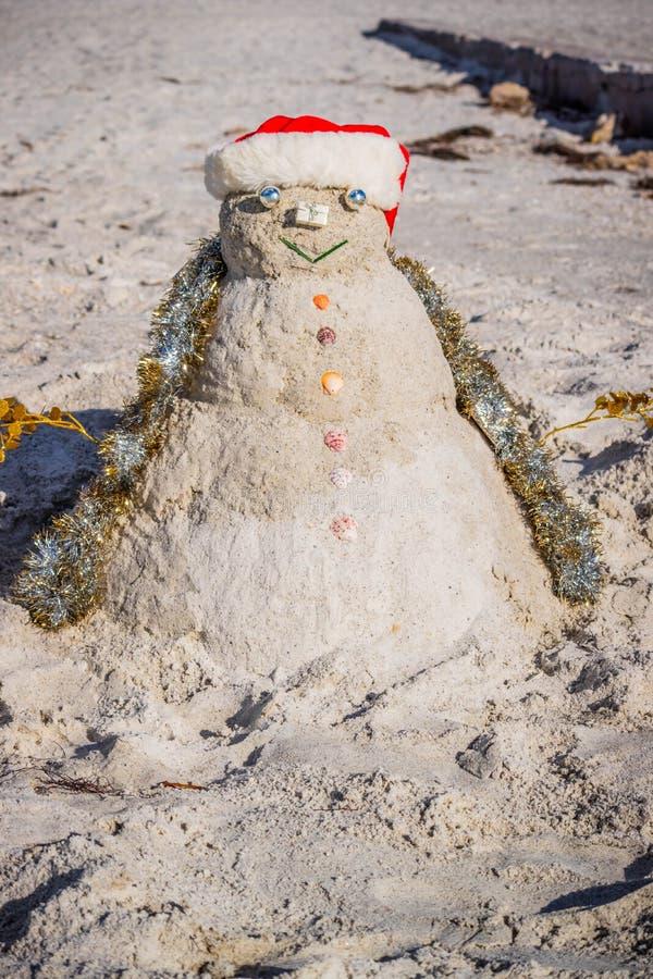 Dobrze robić dekoracyjny bałwan wzdłuż brzeg Brandeton, Floryda obrazy royalty free