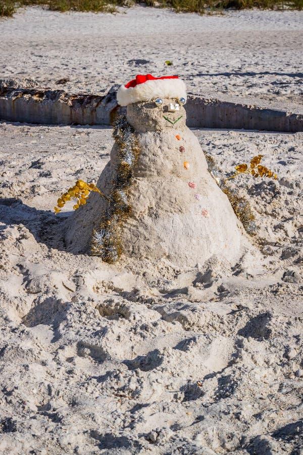 Dobrze robić dekoracyjny bałwan wzdłuż brzeg Brandeton, Floryda obraz stock