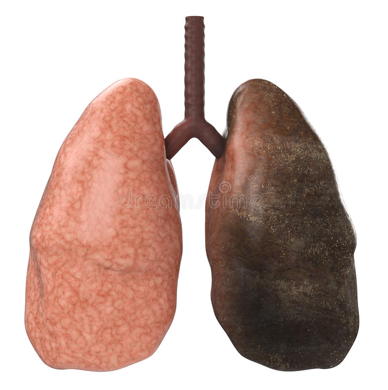 Dobrzy i zli płuca ilustracji