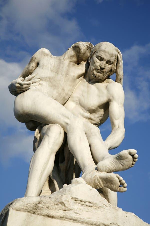 dobrzy Paris samaritan statuy tuileries zdjęcie royalty free