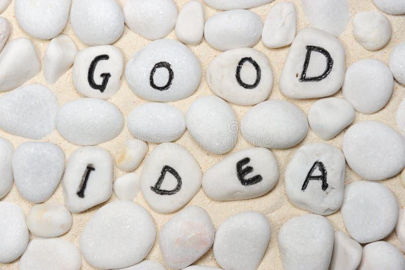 Download Dobrzy pomysłów słowa obraz stock. Obraz złożonej z brukowiec - 28955901