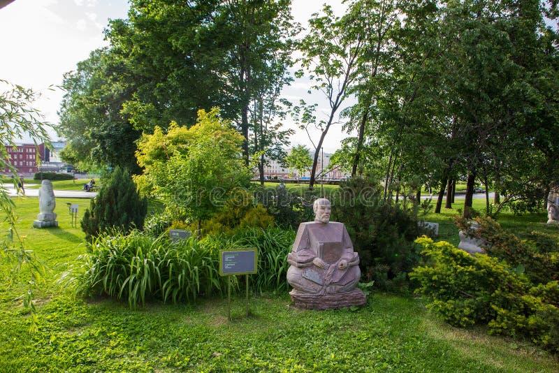Dobrzy samurajowie - statua w Muzeon parku moscow obraz royalty free