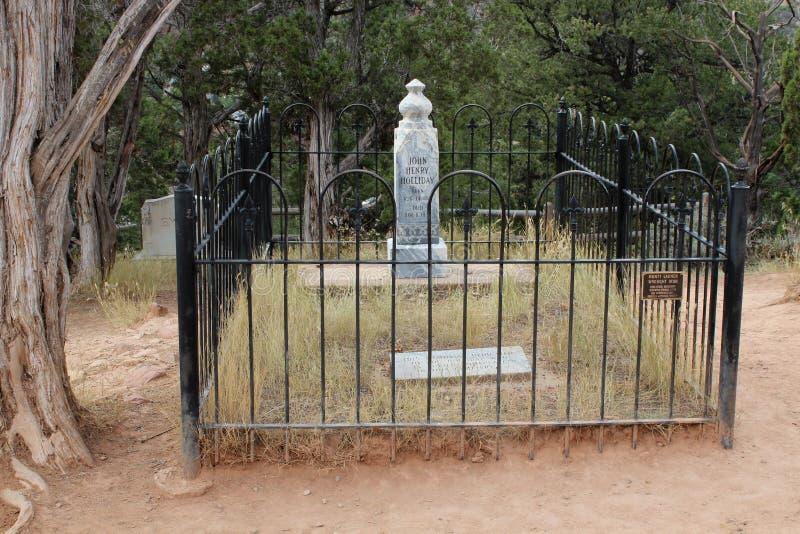 Doc Holliday Memorial - Linwood Cemetery fotografia de stock royalty free