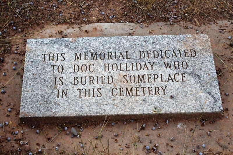 Doc Holliday Memorial - Linwood Cemetery imagem de stock