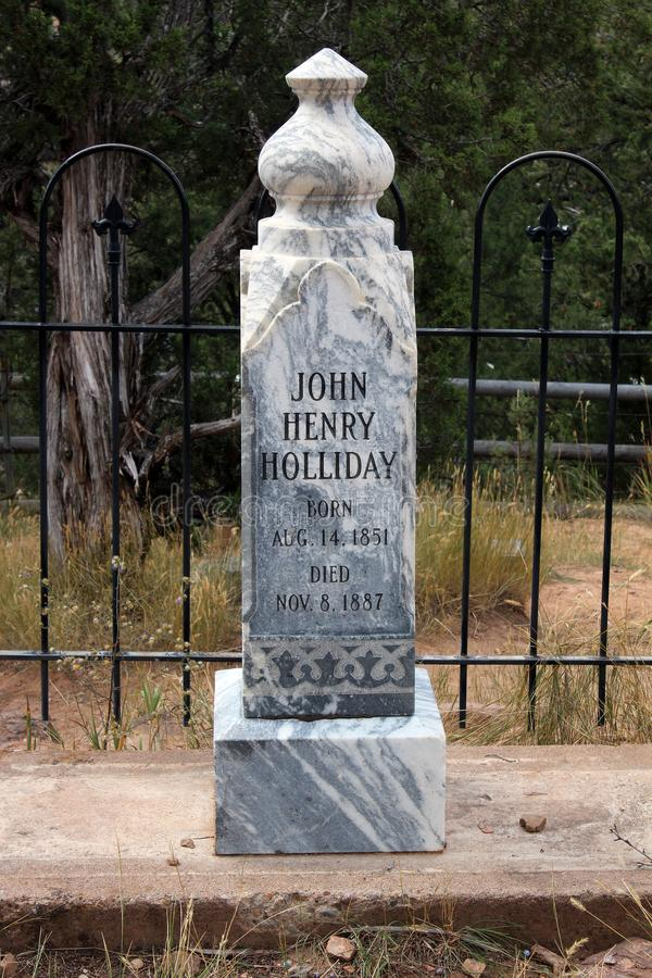 Doc. Holliday Memorial - Linwood Cemetery photographie stock libre de droits