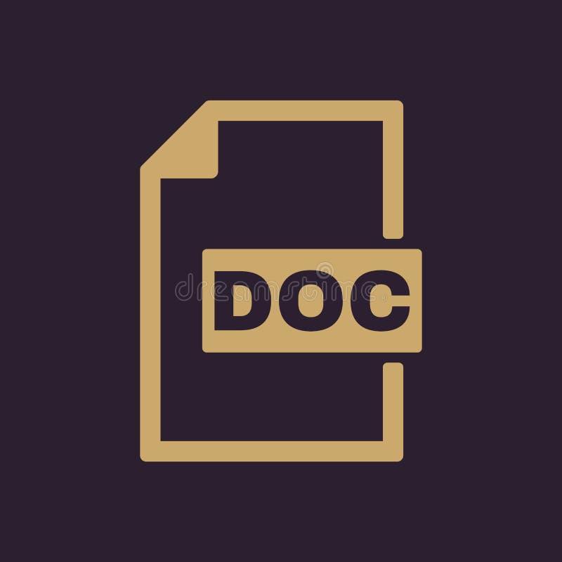 The DOC icon. Text file format symbol. Flat. Vector illustration stock illustration