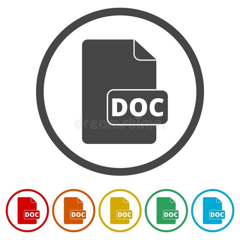 DOC ikona ilustracja wektor