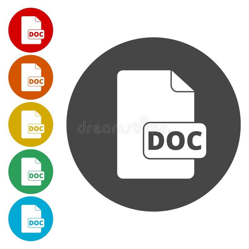 DOC ikona royalty ilustracja
