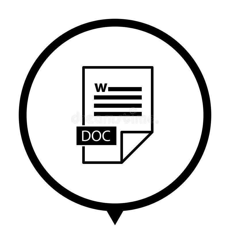 Doc ikona dla sieć projekta royalty ilustracja