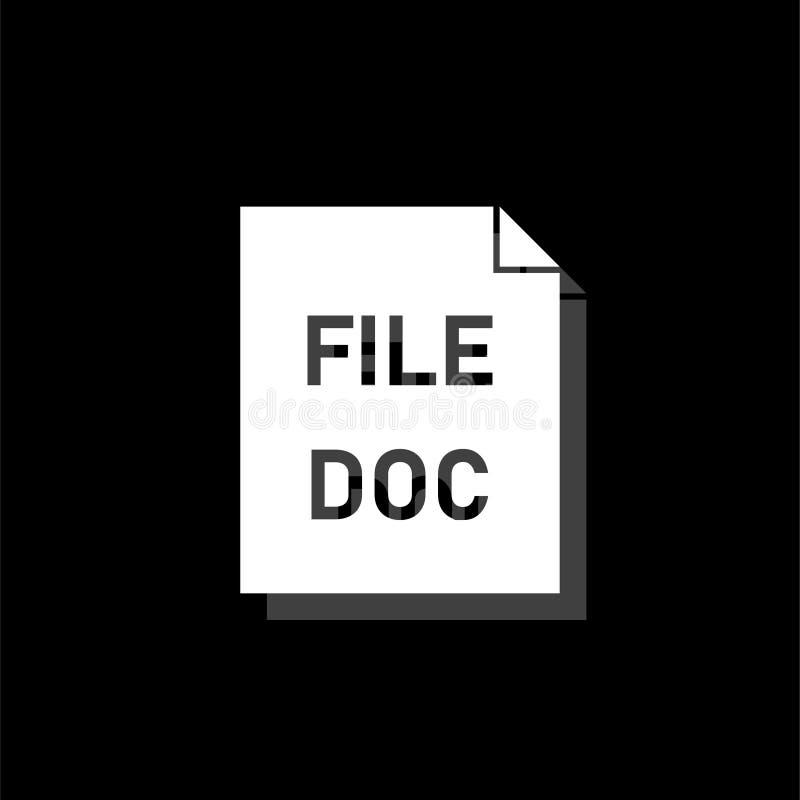 DOC kartoteki ikony mieszkanie ilustracja wektor