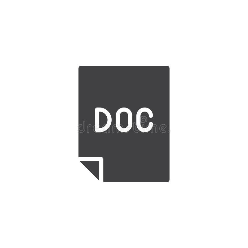 Doc kartoteki wektoru ikona ilustracji