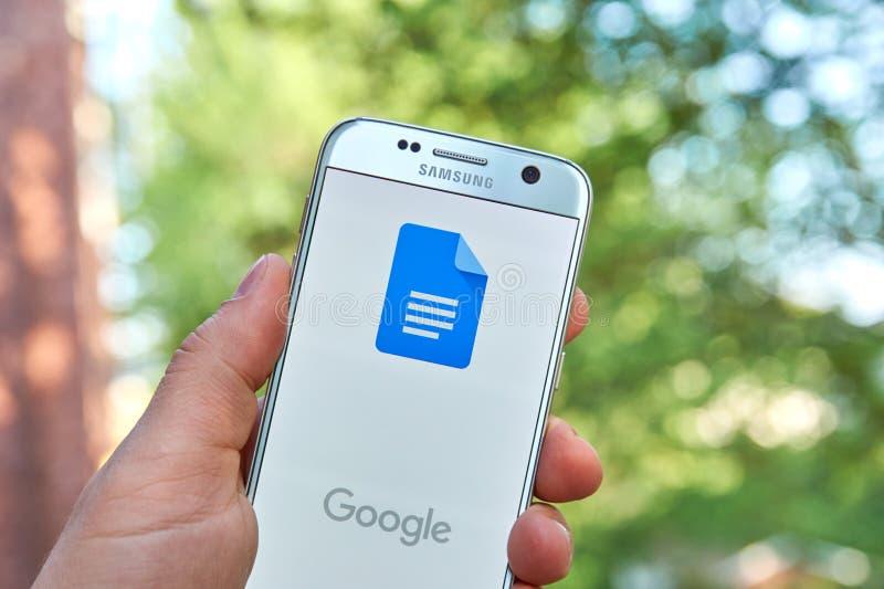 Doc.s APP de Google images stock