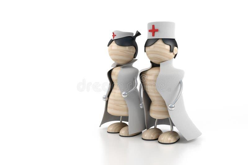 doc-sjuksköterska stock illustrationer