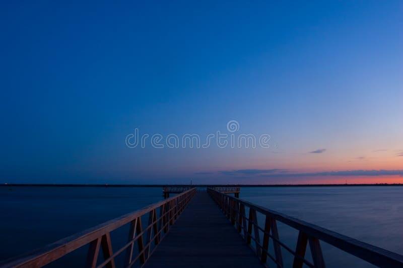 Doc-solnedgång arkivfoto