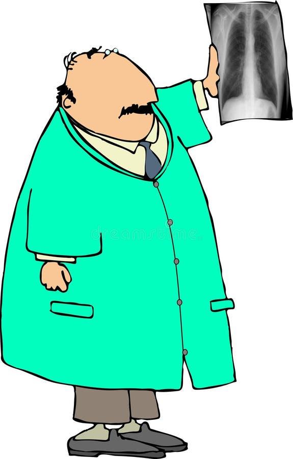Doc. van de röntgenstraal royalty-vrije illustratie