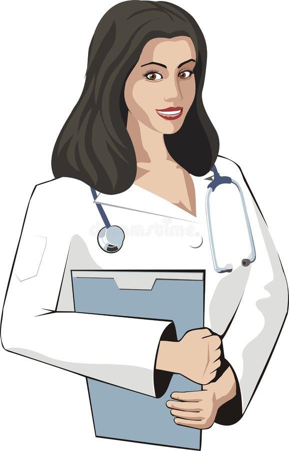 Download Doc woman stock illustration. Illustration of coat, practitioner - 13244508