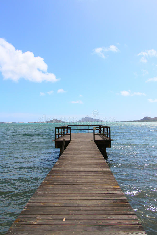 Doca calma de Havaí imagens de stock royalty free