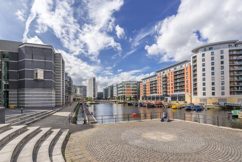 Doca de Leeds na cidade de Leeds imagem de stock royalty free