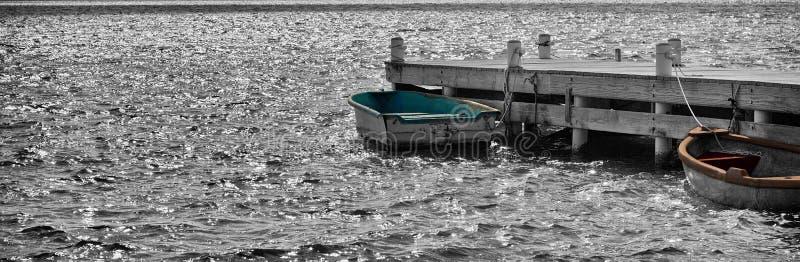 Doca do barco fotografia de stock
