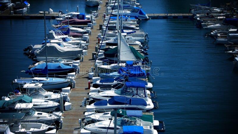 Doca do desporto de barco fotografia de stock