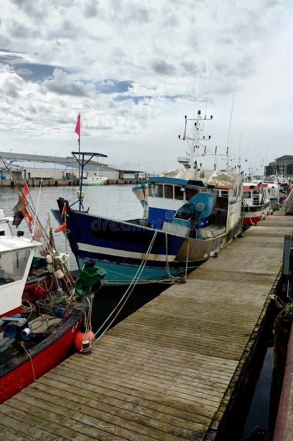 Doca dos barcos de pesca foto de stock royalty free